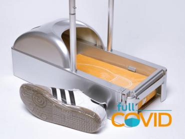 FullCovid Dispensador Cubre-Calzado con apoyo